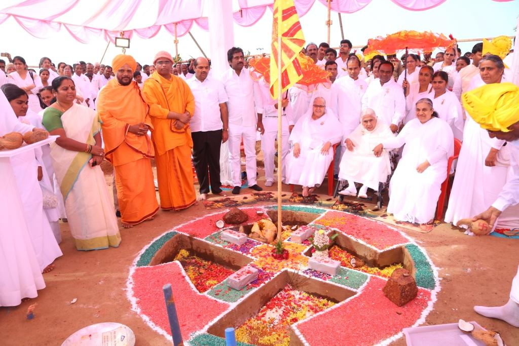 Foundation Stone laid for Global Peace Village, A Retreat Centre of Brahma Kumaris