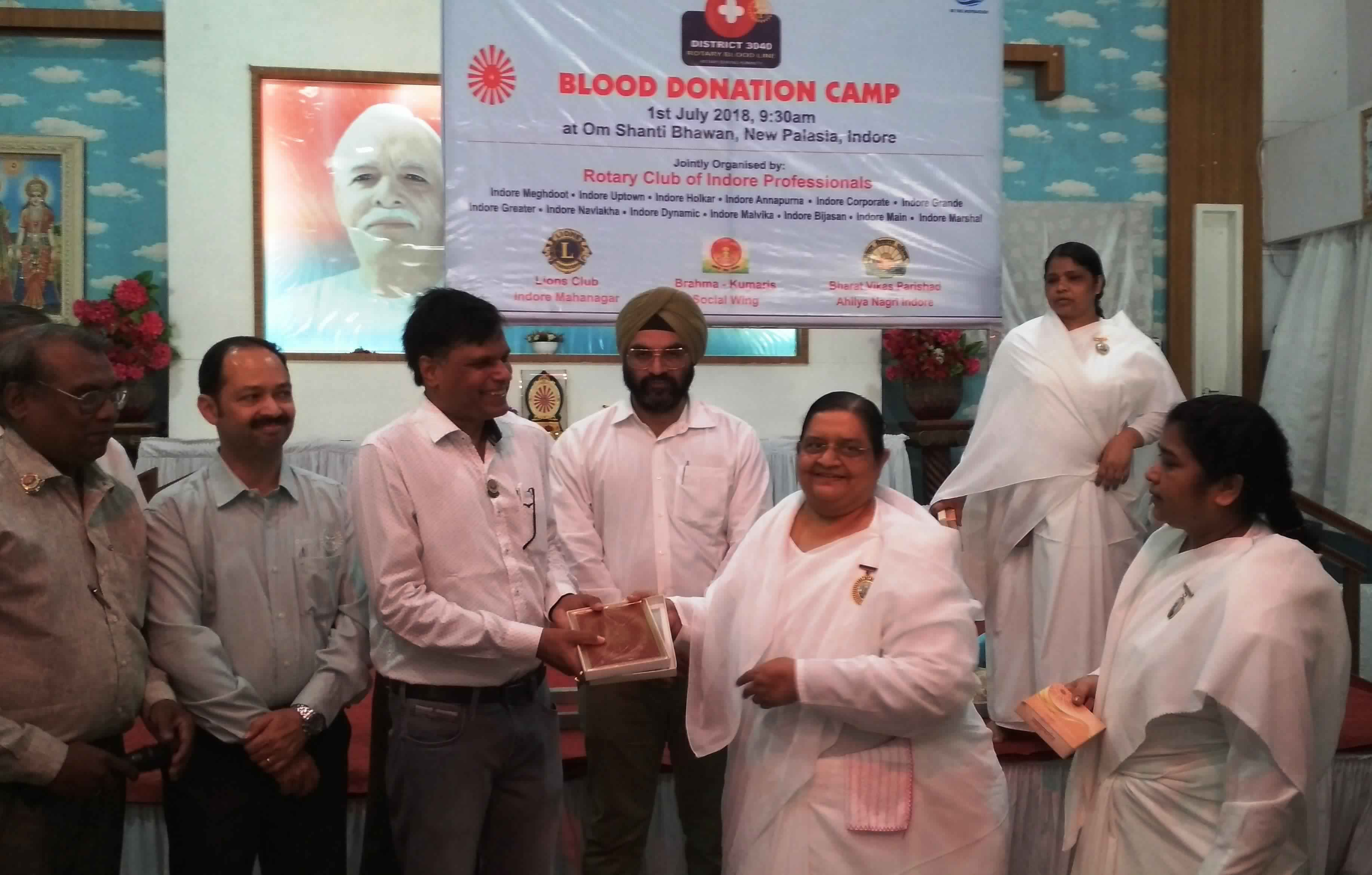 Blood Donation Camp at Om Shanti Bhawan, Indore