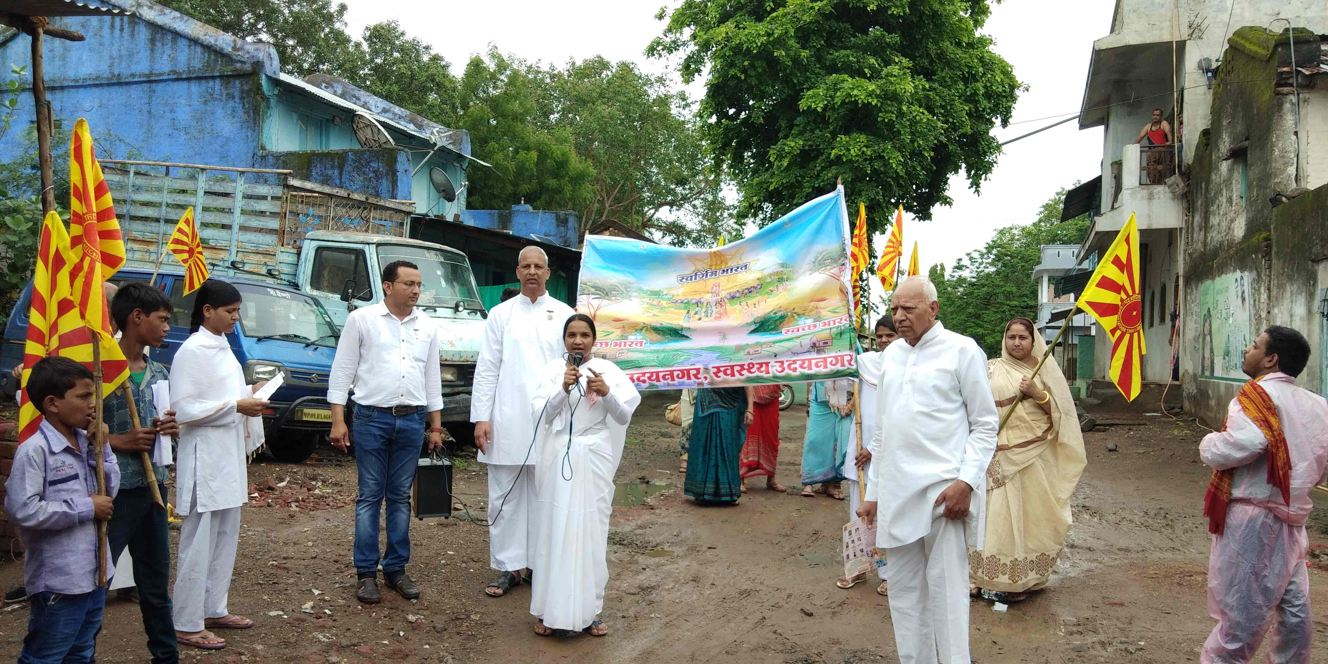 """Rally for """"Clean India, Healthy India"""" by Brahma Kumaris, Indore"""