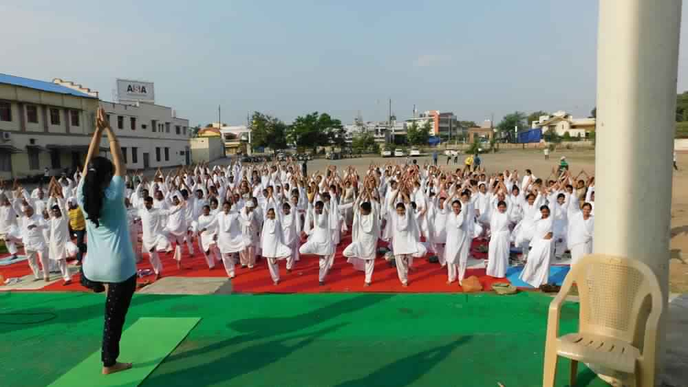 Yoga Day Celebration by Brahma Kumaris, Bilaspur