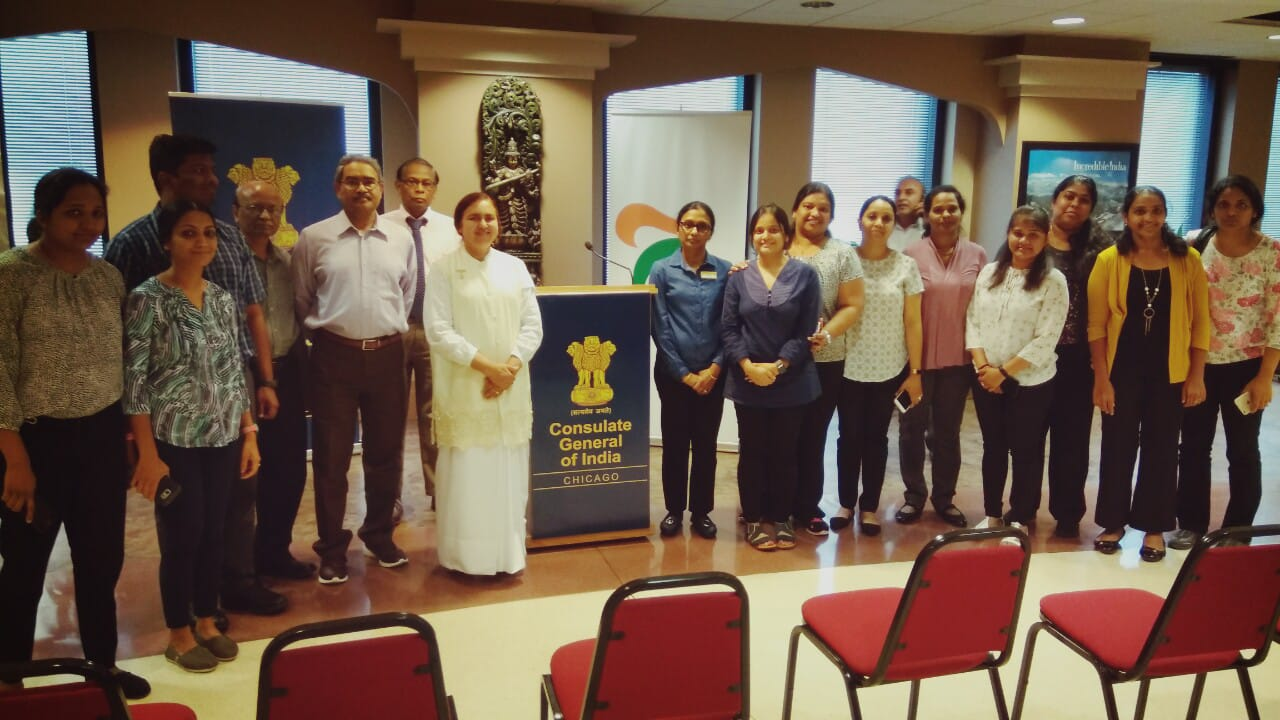 Brahma Kumaris at Consulate General of India in Chicago, USA