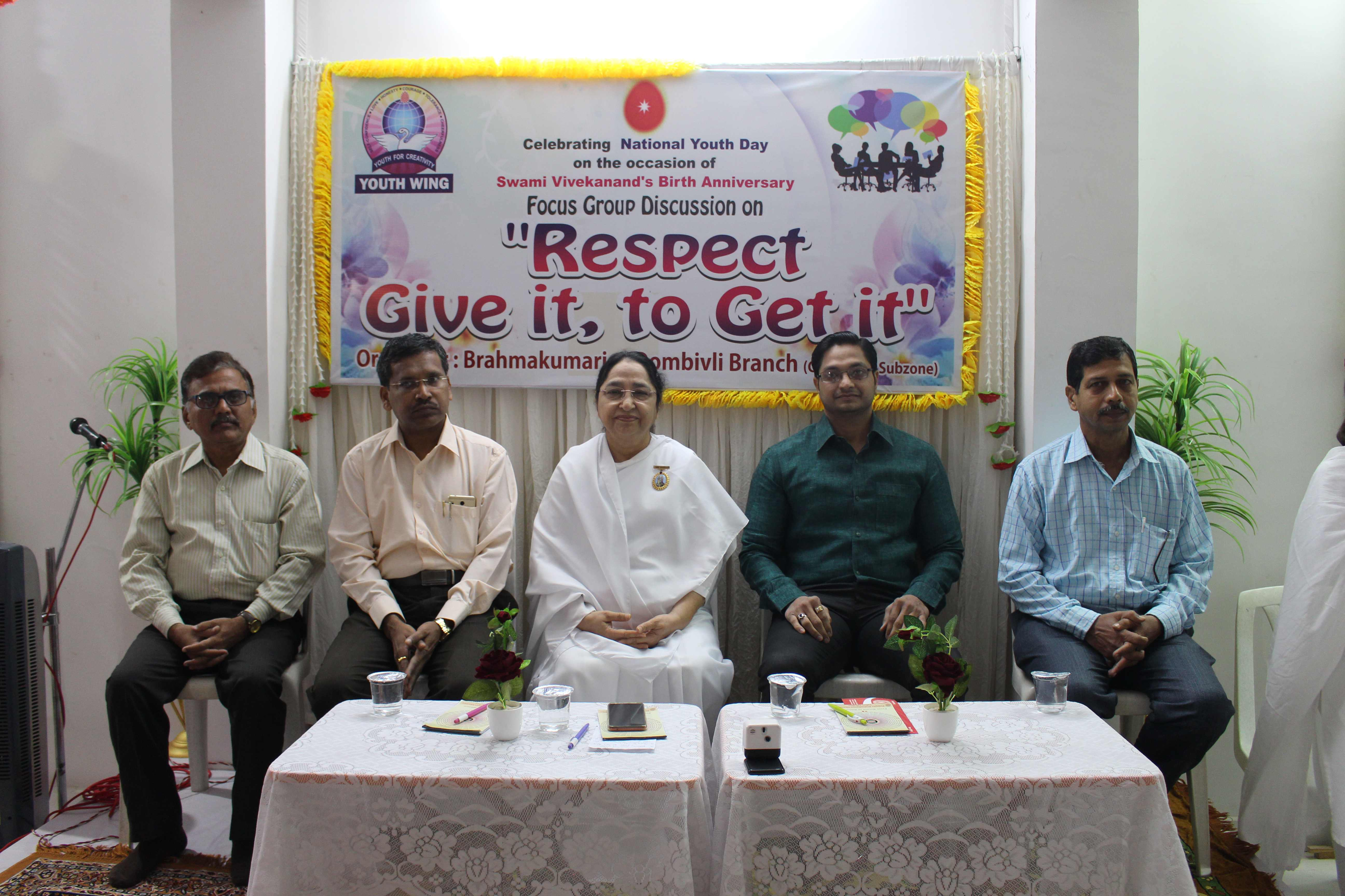 """Respect – Give it, to take it"" National Youth Day Celebrations by Brahma Kumaris"
