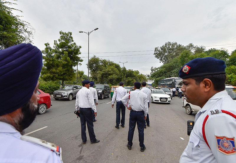Protest against amended Motor Vehicles Act