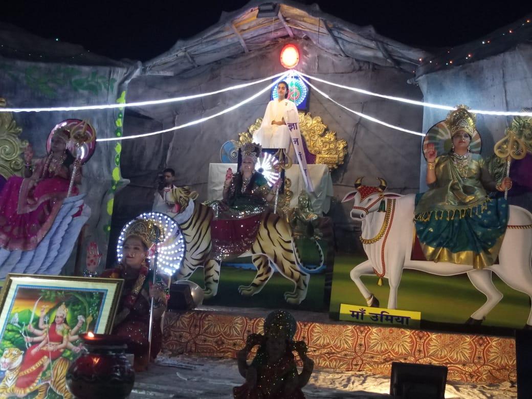 A Tableau of Deities by Brahma Kumaris, Lotus House in Gujarat