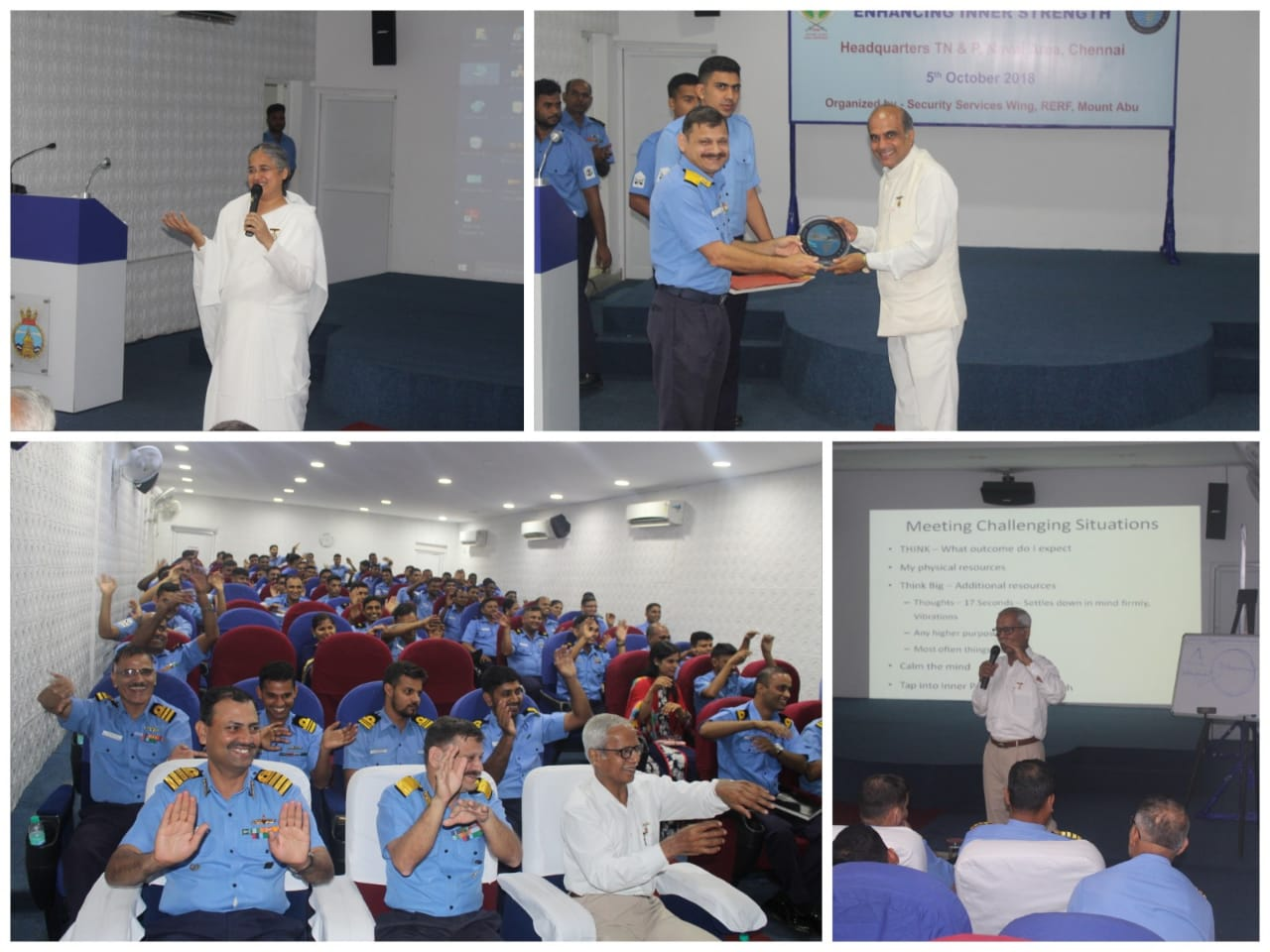 'Enhancing Inner Strength' Program for Indian Navy by Brahma Kumaris, Chennai