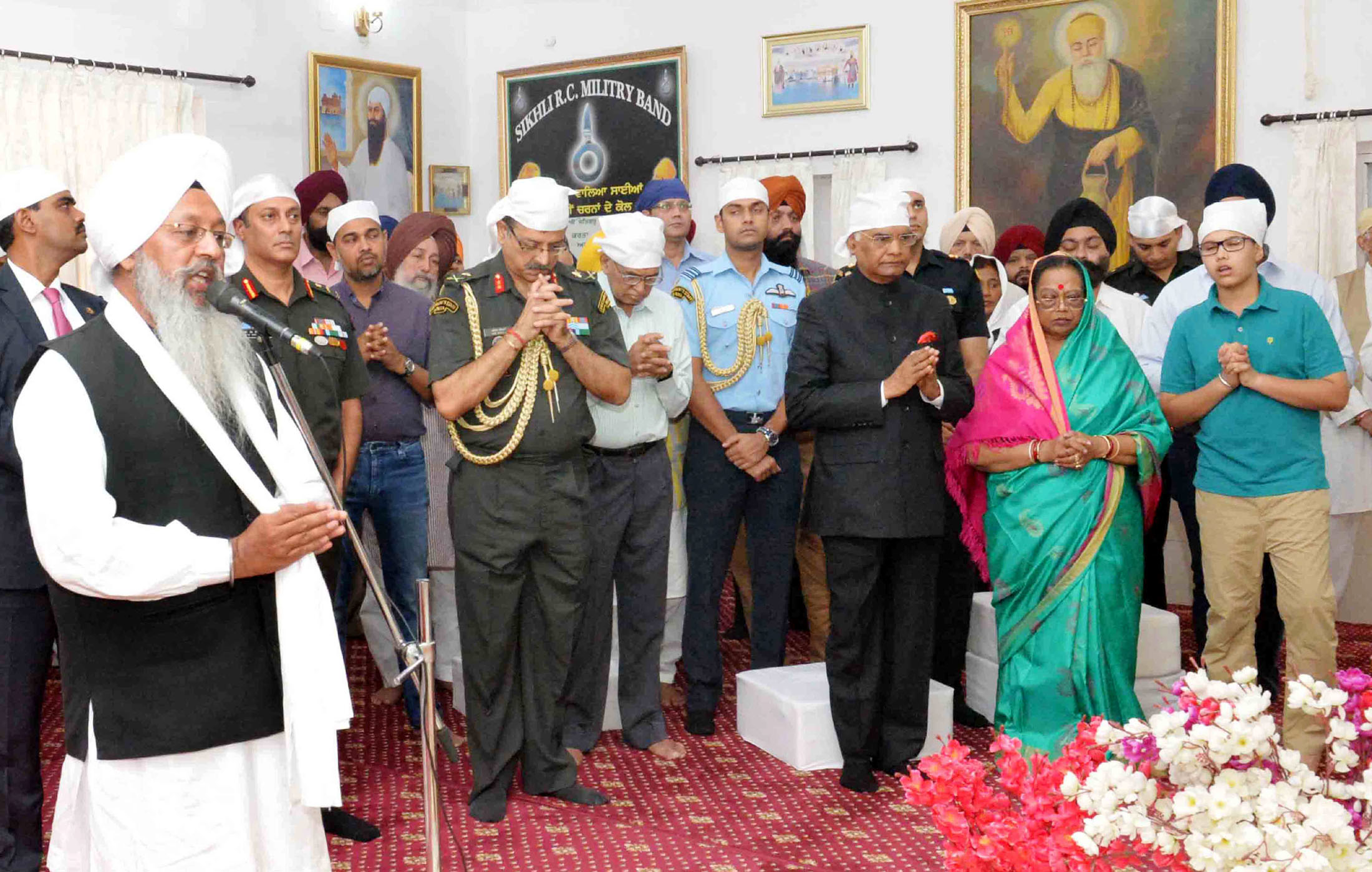 President of India visits Gurudwara