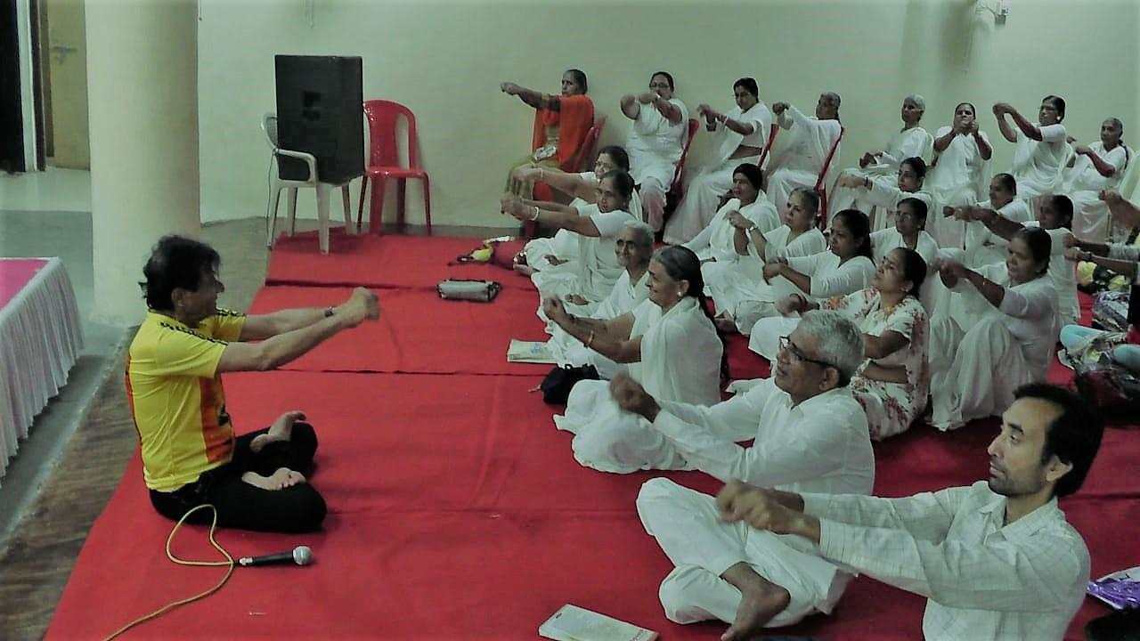 International Yoga Day program at Ramleela Maidan Hall, Mumbai