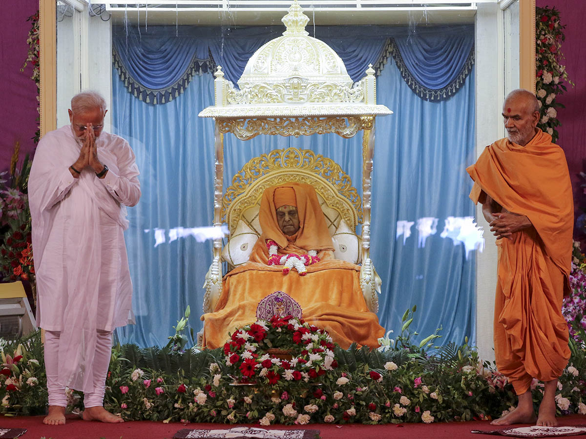 PM pays tributes to HH Pramukh Swami Maharaj on his Jayanti