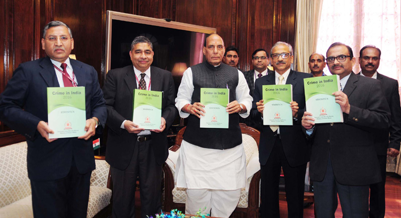 """Union Home Minister Shri Rajnath Singh releases NCRB Publication """"Crime in India 2016- Statistics"""