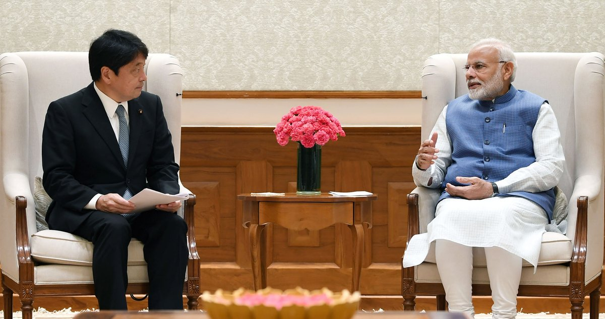 Defence Minister of Japan calls on the Prime Minister