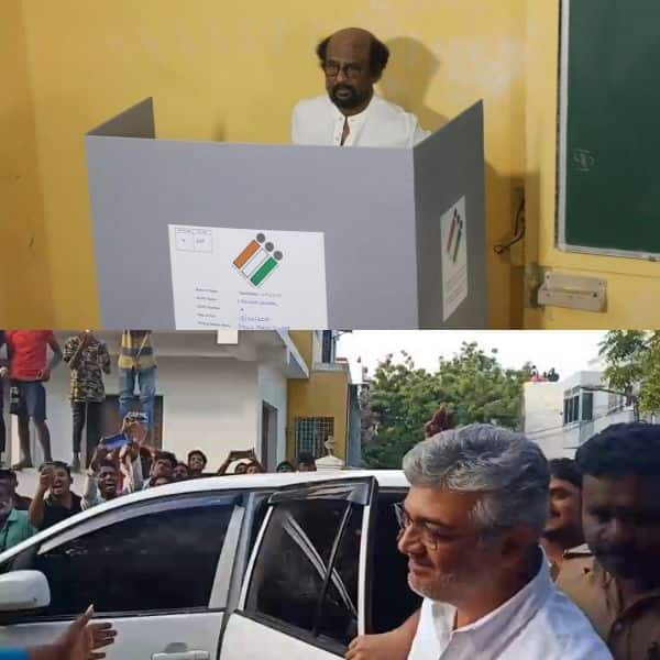 Lok Sabha Elections 2019: Rajinikanth, Thala Ajith and Thalapathy Vijay arrive to cast their votes