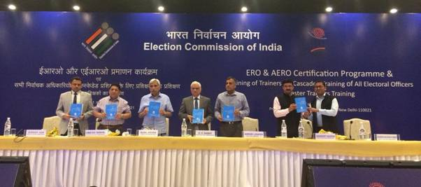 Election Commission of India launches ERO & AERO Certification Programme and organizes Training of State Level Master Trainers