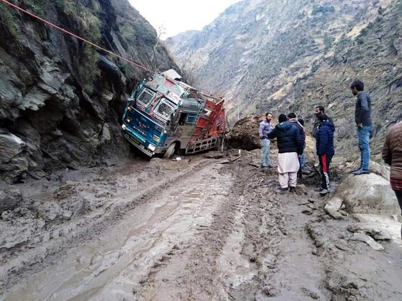 Driver, associate killed after landslide hits truck