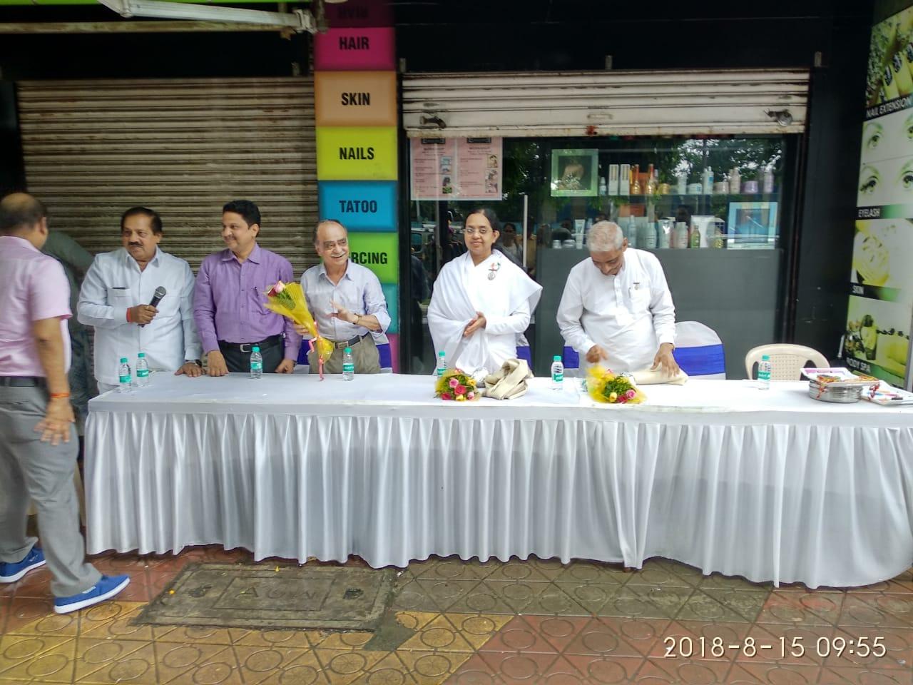 Flag Hoisting by Brahma Kumaris of Malad at Vishal Security Private Limited