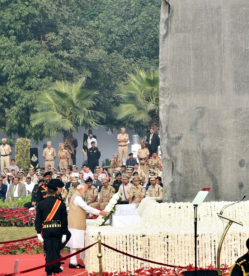 Prime Minister dedicates National Police Memorial to the Nation: announces an award in the name of Subhas Chandra Bose