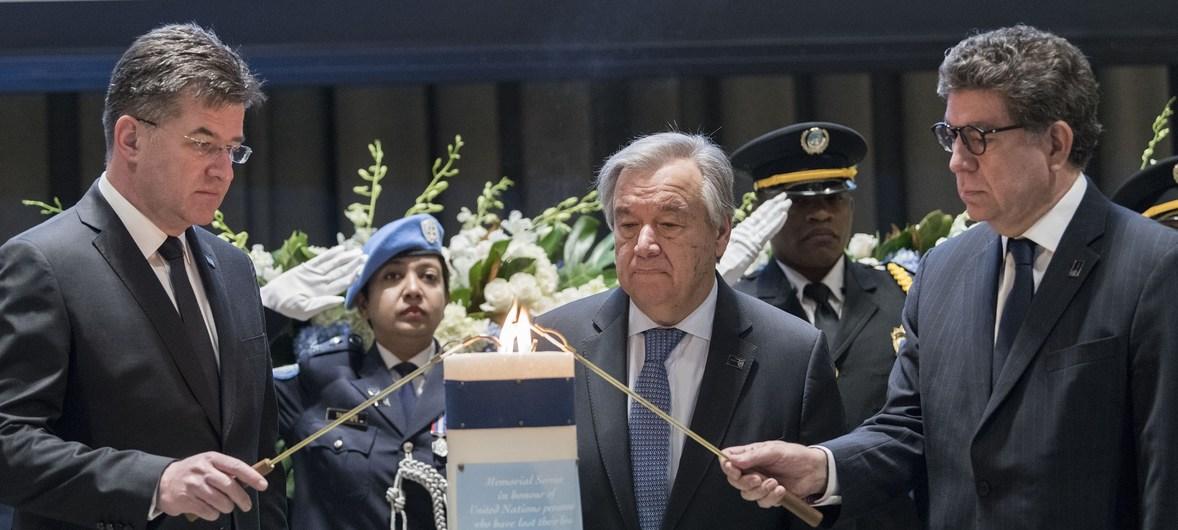 In annual memorial, UN pays tribute to 140 fallen staff members