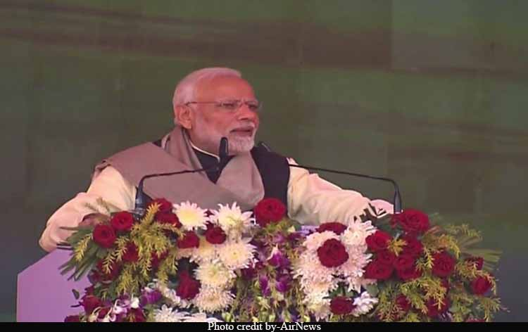 PM launches development projects in Rae Bareli