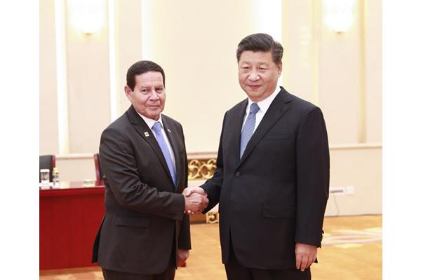 Xi meets Brazilian vice-president