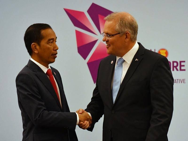 Morrison meets Indonesia's Joko Widodo