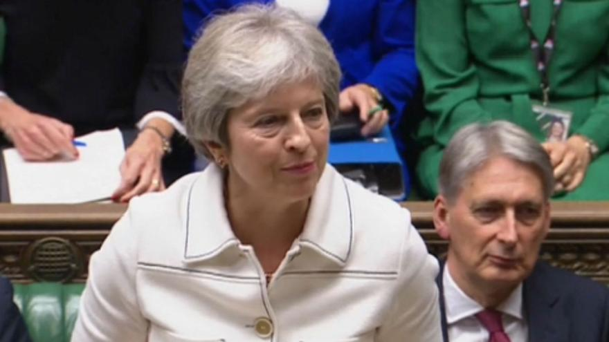 May to address UK parliament on Brexit