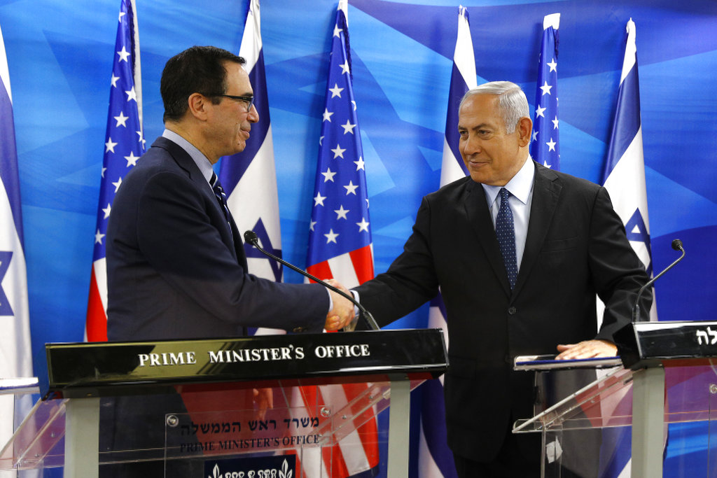 Steven Mnuchin: White House Plans To Increase Contribution To Israel's Infrastructure