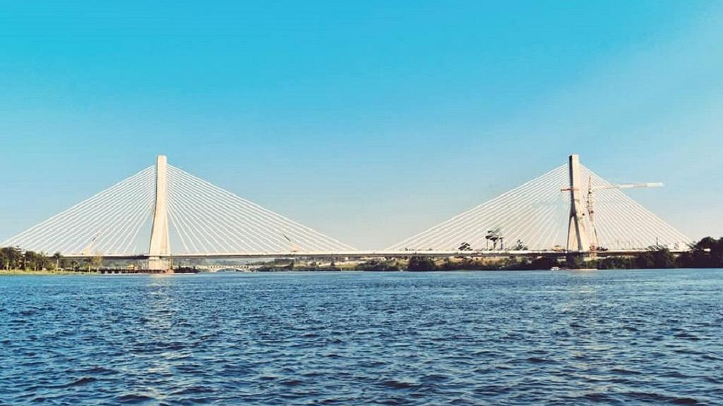 Ugandans celebrate iconic cable-stay bridge over River Nile