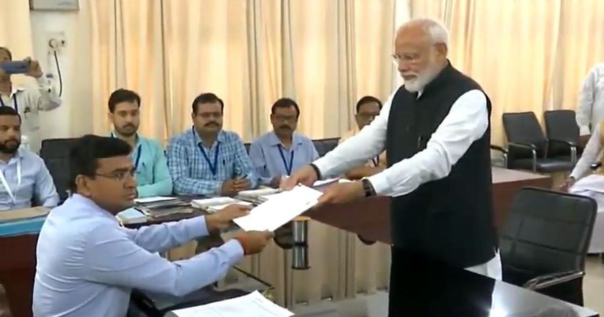 PM Modi files nomination from Varanasi, Priyanka Gandhi opts out of the race , report by Dr. Ramesh C Raina