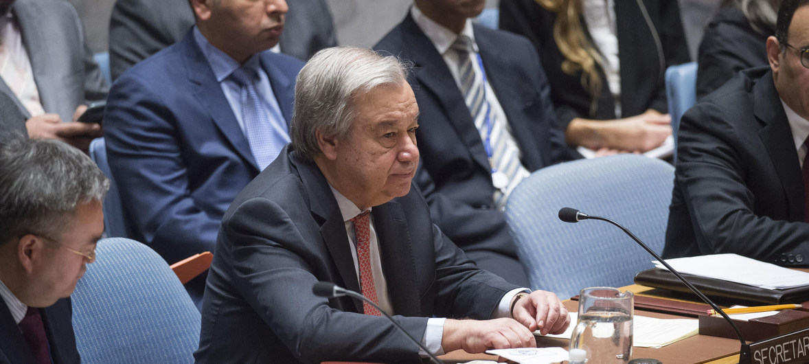 'There is no plan B,' says Guterres, reiterating UN's commitment to two-state solution to Israeli-Palestinian conflict