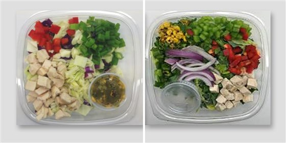 Prepared salads recalled for salmonella, listeria risk