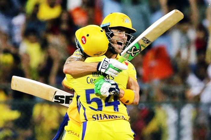 Du Plessis half-century a power up for CSK to the finals