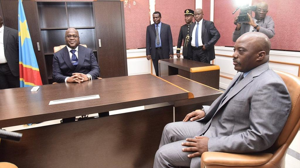 DRC president meets Kabila over coalition govt talks