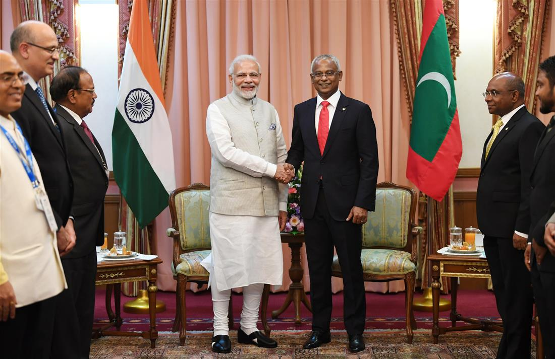 Press statement by Prime Minister during state visit of President of Maldives to India