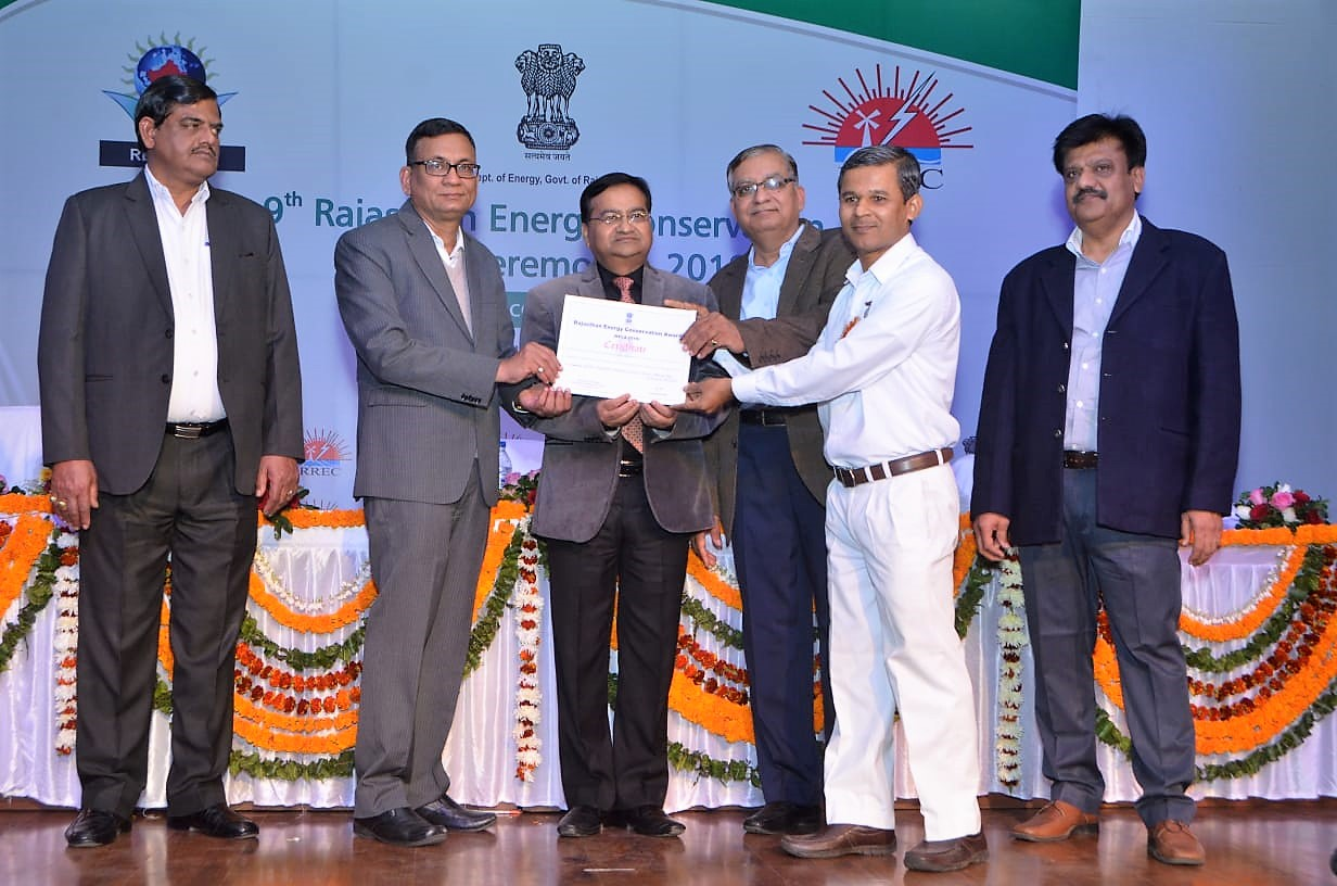 Brahma Kumaris Global Hospital Honored with 'Rajasthan Energy Conservation Award- 2018'
