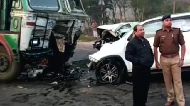 BJP MLA  Lokendra Singh dies in head –on-truck-car collision in Uttar Pradesh