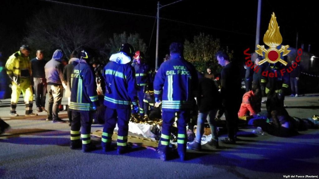 6 killed in Italian nightclub stampede
