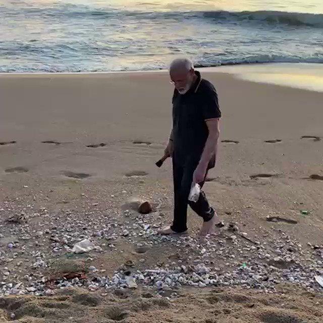 "Prime Minister Plogs at Mamallapuram Beach, "" Knitting the News"" by Dr Ramesh C Raina"