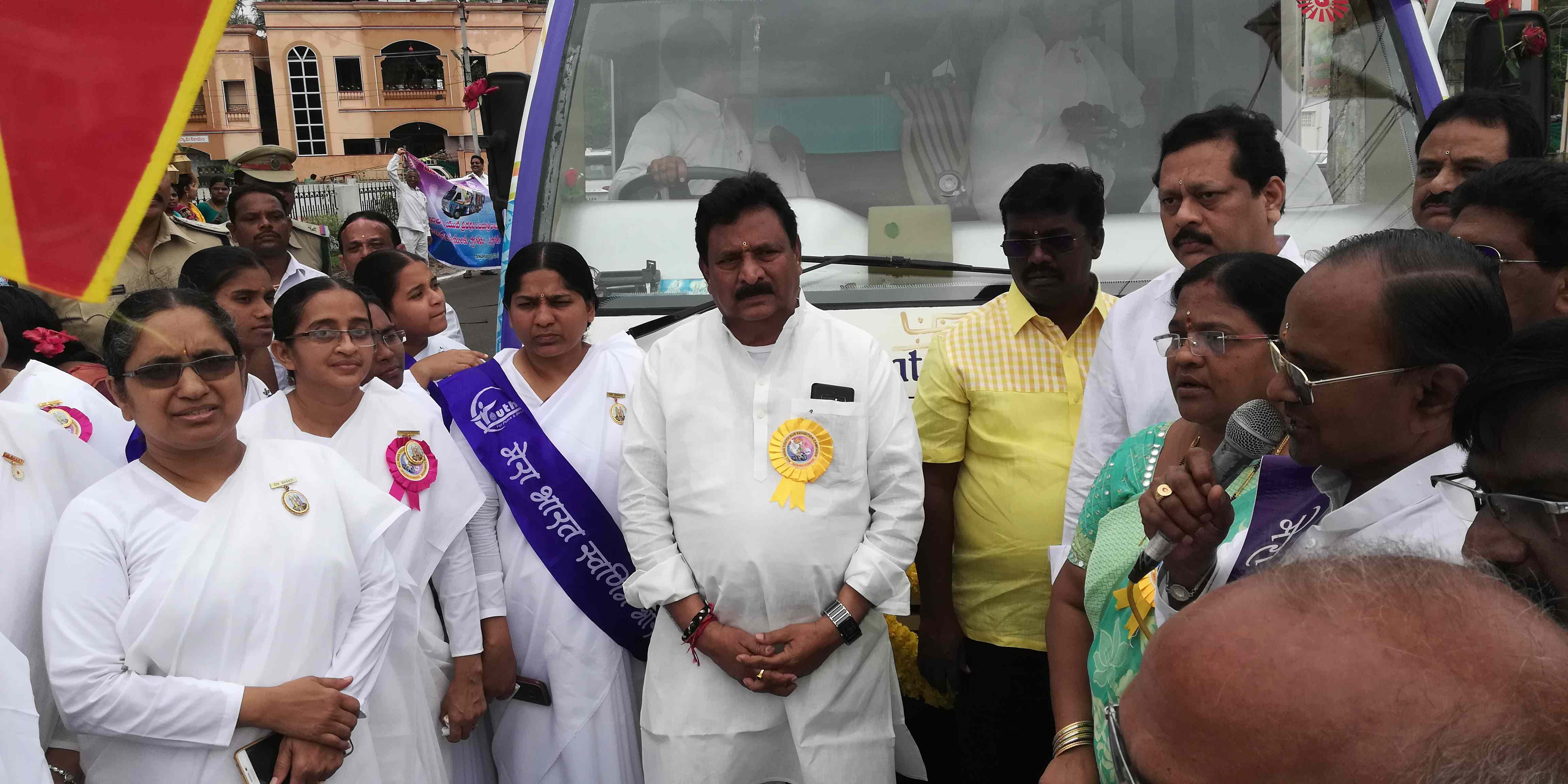 Deputy Chief Minister and Home Minister of Andhra Pradesh welcomes BK Youth Rally