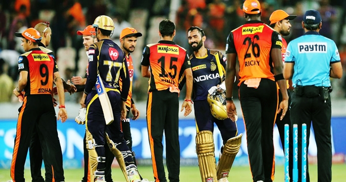 KKR book a berth in the playoffs after defeating SRH