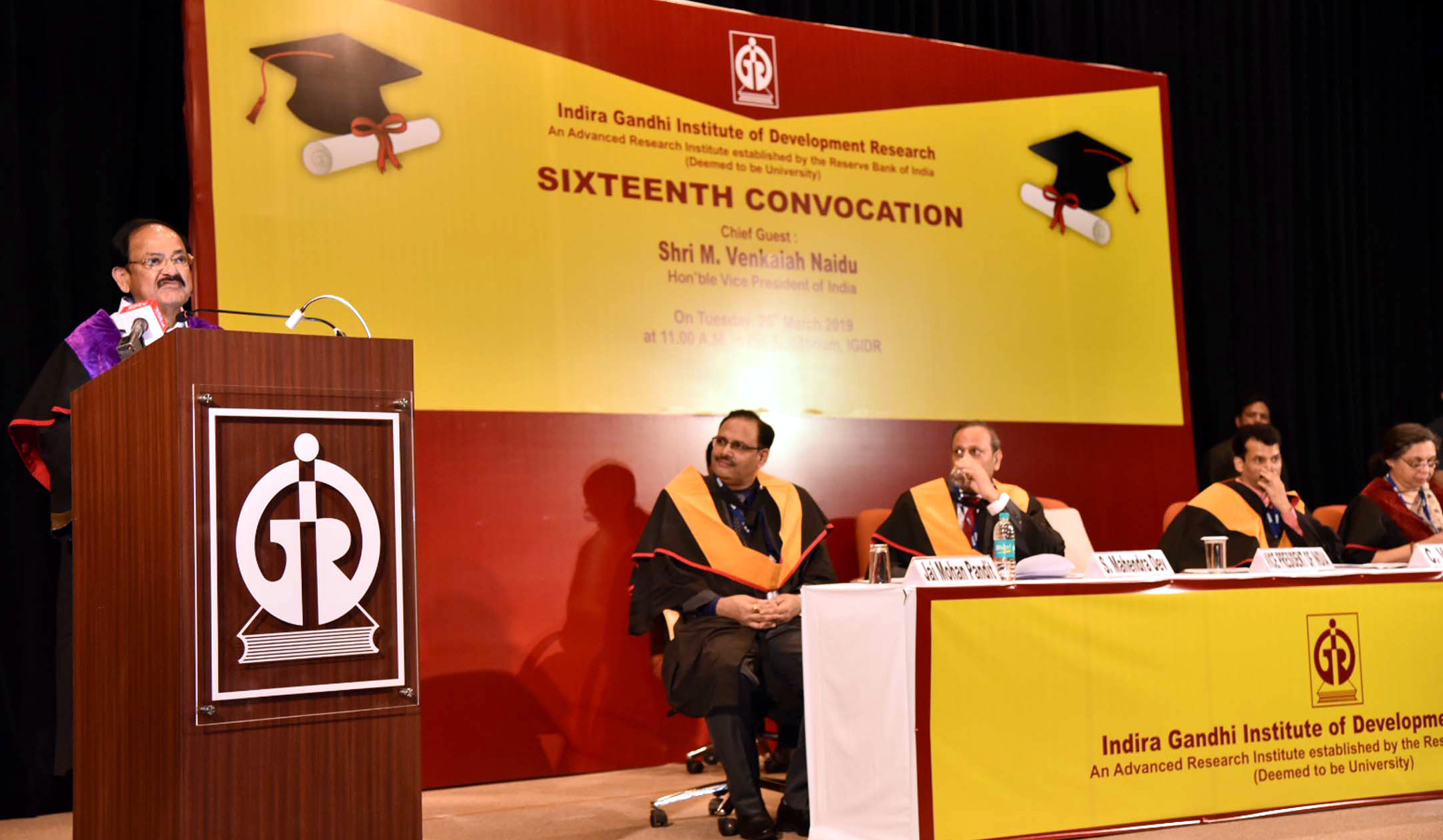Shri M. Venkaiah Naidu  Addresses 16th Convocation of Indira Gandhi Institute of Development Research