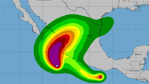Hurricane Willa off Mexico's Pacific coast