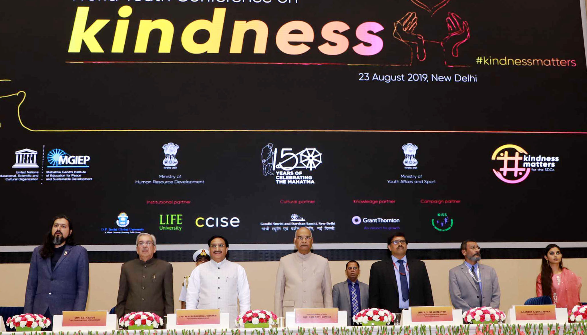 President of India inaugurates the First World Youth Conference on Kindness