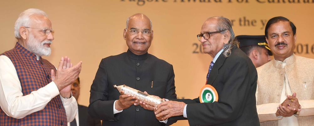 President of India presents Tagore Awards for Cultural Harmony for the Years 2014, 2015 and 2016