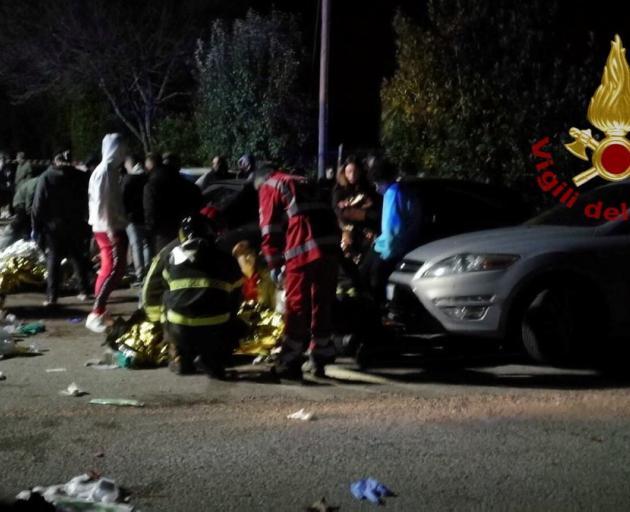 6 killed in Italian nightclub stampede