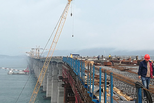 Fuzhou-Pingtan bridge to be completed this year