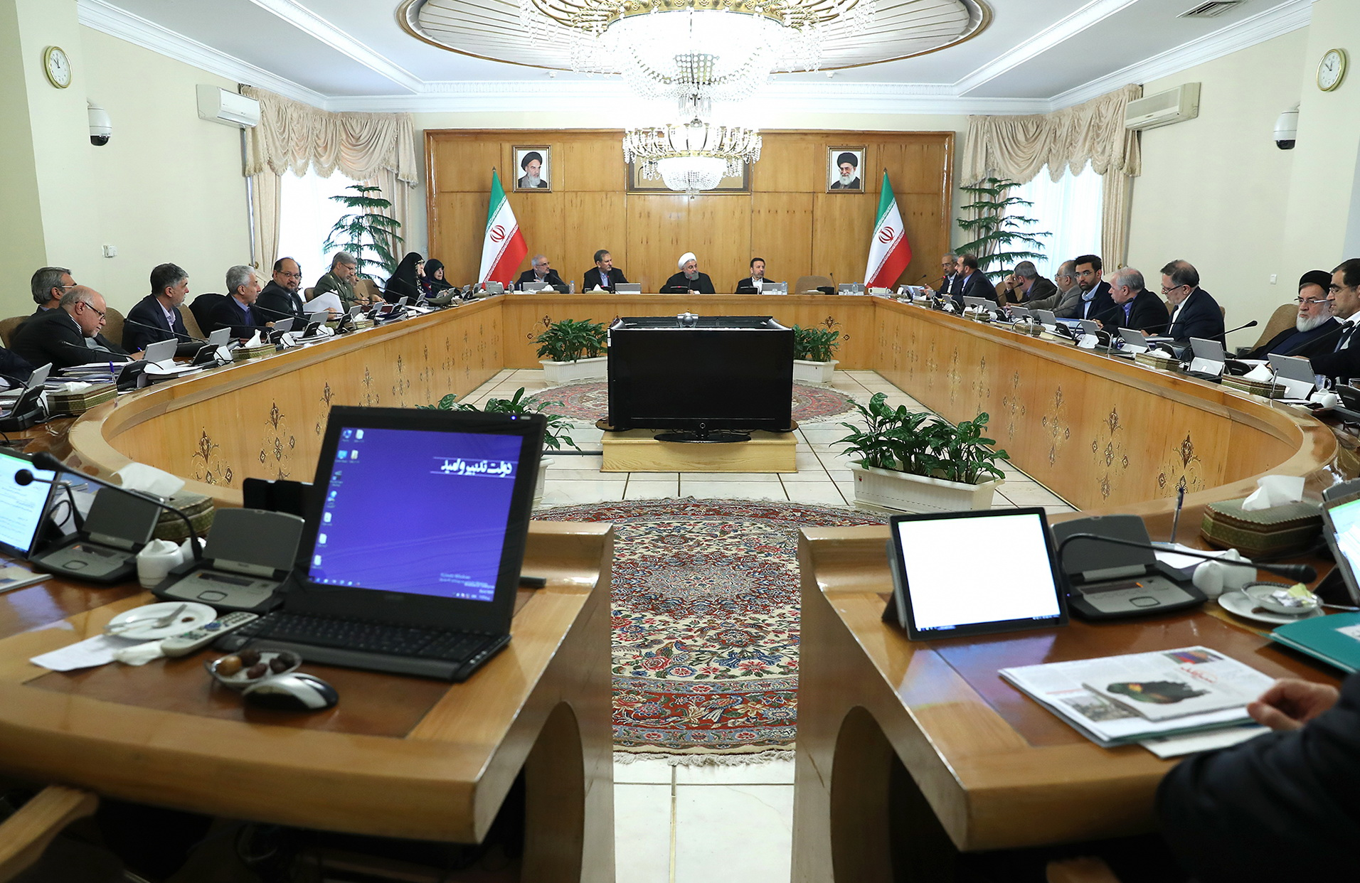 President Hassan Rouhani in a cabinet session