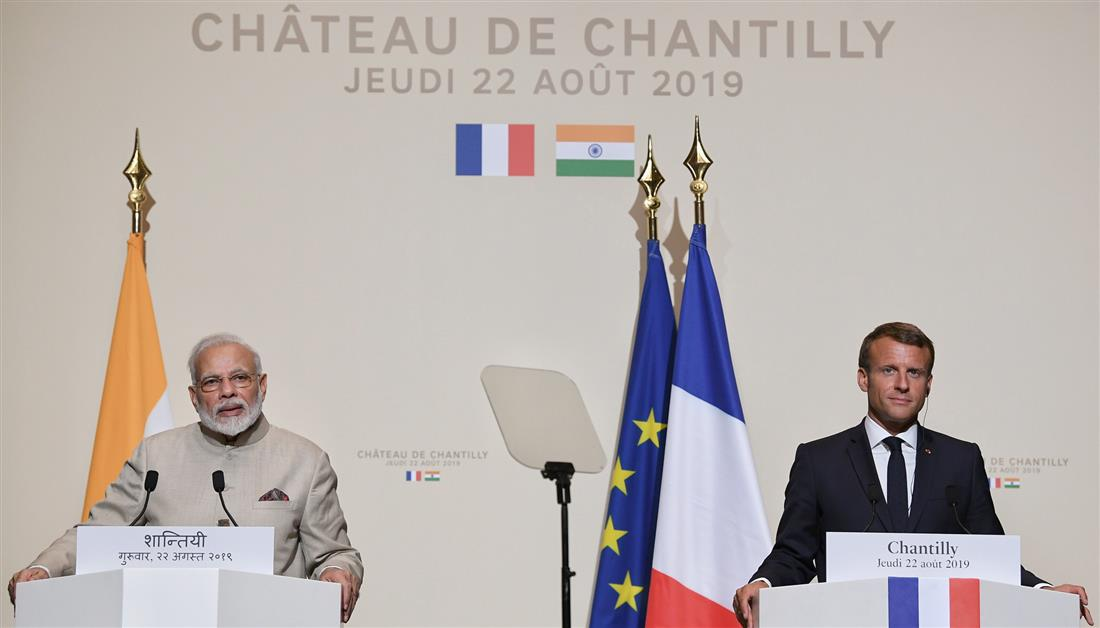 India-France Joint Statement on Visit of Prime Minister to France