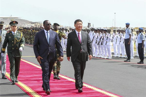 Xi arrives in Senegal for state visit