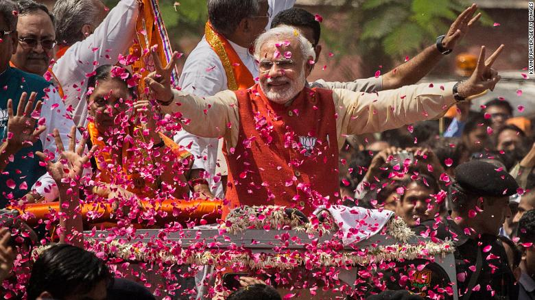 "Congratulatory Showers on Modi by Rahul,Trump, Putin, May, Imran, Kohli, Shahrukh , Gates and many more ,"" Knitting the News by Dr Ramesh C Raina""."