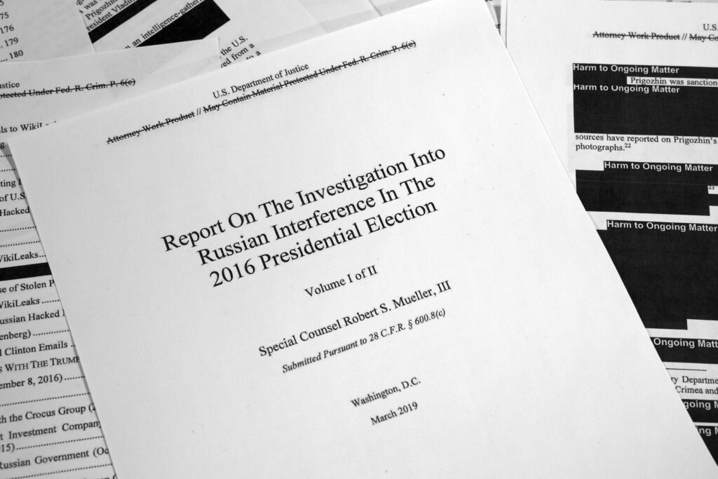 Redacted Mueller Report Released To Public