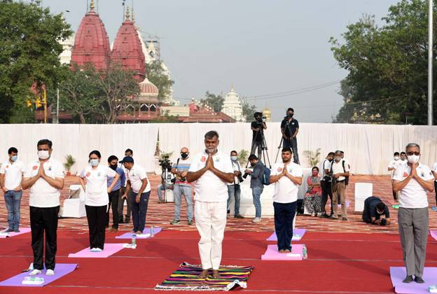 On International Day of Yoga, the Government of India organizes program at 75 heritage sites